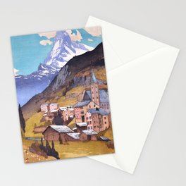 Hiroshi Yoshida - Matterhorn - Japanese Vintage Ukiyo-e Woodblock Painting - Europe Series Stationery Cards
