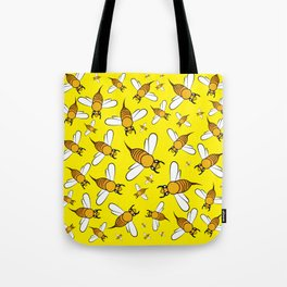 Bees on Yellow Tote Bag