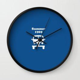 Summer 1969 - blue Wall Clock