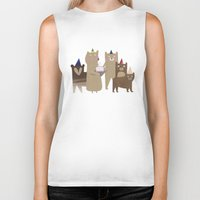 bears Biker Tanks featuring BEARS by Lydia Coventry