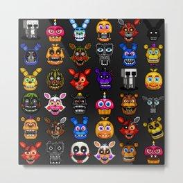 FNAF pixel art Metal Print