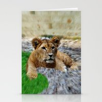 the lion king Stationery Cards featuring King Lion by helsch photography