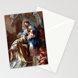 Sebastiano Conca The Madonna Appearing to St. Philip Neri Stationery Cards