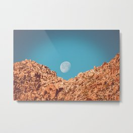 Moon over Anza Borrego Metal Print