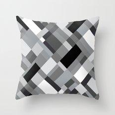 New Map Grey 45 Throw Pillow