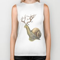 snail Biker Tanks featuring Snail by Alesha