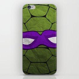 the purple turtle iPhone Skin