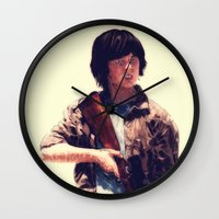 carl sagan Wall Clocks featuring Carl  by ConnorEden