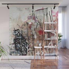 Original art print - abstract mixed media: sumi ink, acrylic, oil painting - 'Jax yard' Wall Mural