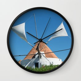 Windmill house, Portugal Wall Clock
