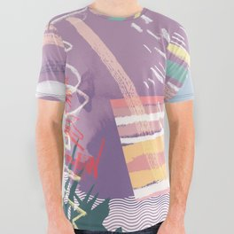 Summer Pastels All Over Graphic Tee