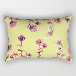 pink water color Garden Rectangular Pillow