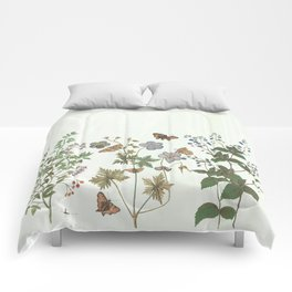 The fragility of living - botanical illustration Comforters