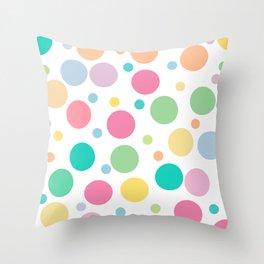 bulles de couleur Throw Pillow