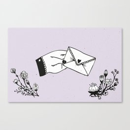Snail Mail Love Canvas Print