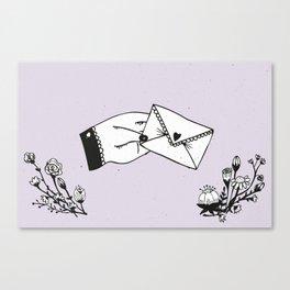 Snail Mail Love Canvas Print