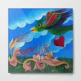 Flight of the wounded heart Metal Print