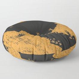 Desert Landscape Floor Pillow
