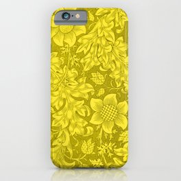 William Morris Yellow Tuscany Sunflower Textile Floral Pattern iPhone Case