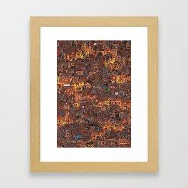 Gold Favela Framed Art Print