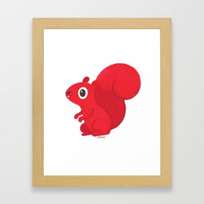 A de Ardilla Framed Art Print
