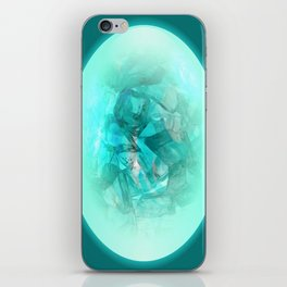Chrystal Glow Blue Abstract iPhone Skin