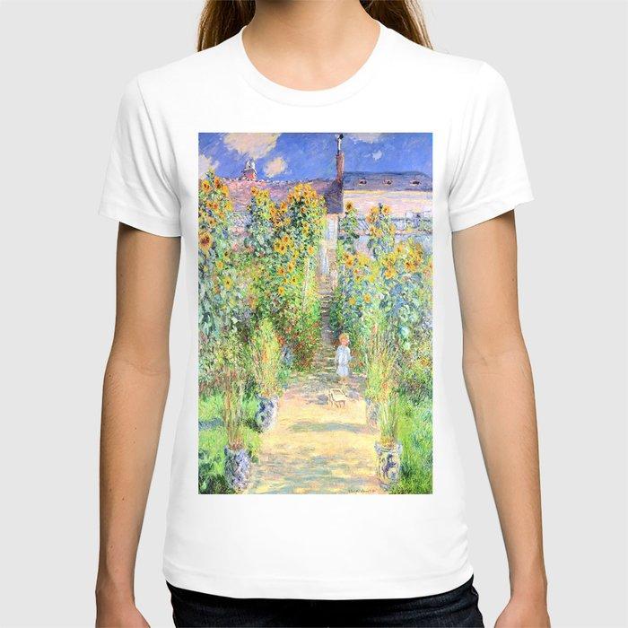 Monets Garden at Vetheuil T-shirt
