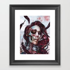 Queen of Ravens Framed Art Print
