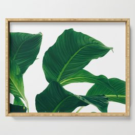 Green Leafs (Color) Serving Tray