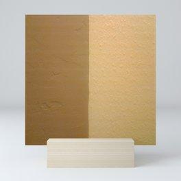 Imperfect Smooth VS Orange Peel Textures Minimalism Earth Tone Art - Corbin Henry Mini Art Print