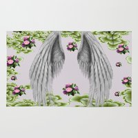 angel wings Area & Throw Rugs featuring angel wings by karens designs