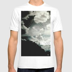 yes he was White MEDIUM Mens Fitted Tee