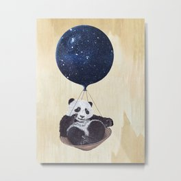 Panda in space Metal Print