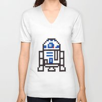 r2d2 V-neck T-shirts featuring r2d2 by Walter Melon