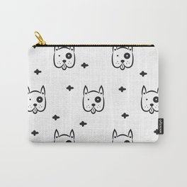 Funny white dog pattern Carry-All Pouch