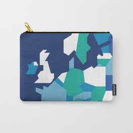Geometric Europe Map - Blue Carry-All Pouch