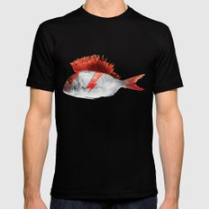 FISHY STARDUST 2X-LARGE Black Mens Fitted Tee