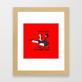 Duck Pulp Fiction Framed Art Print