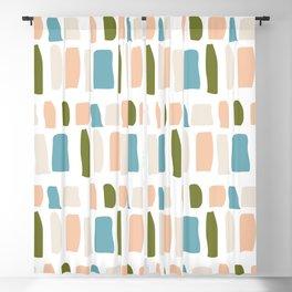 Retro 1950s Tile Pattern Blackout Curtain