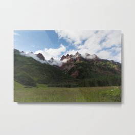 Mountains in Fog Metal Print