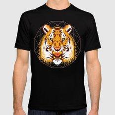 Geometric Tiger Black MEDIUM Mens Fitted Tee