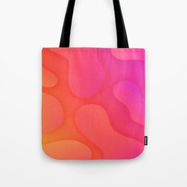 Colorful fluid happy abstract pattern #liquid #pink #orange Tote Bag