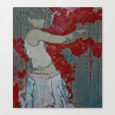 'Block' (#girl painting) Canvas Print