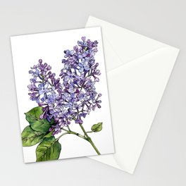 Lilac Watercolor Illustration Stationery Cards