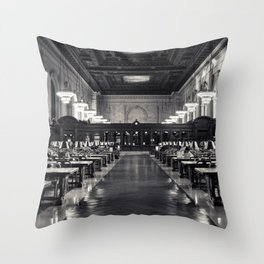 The New York Public Library Rose Reading Room Throw Pillow