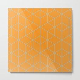 Cubic Metal Print