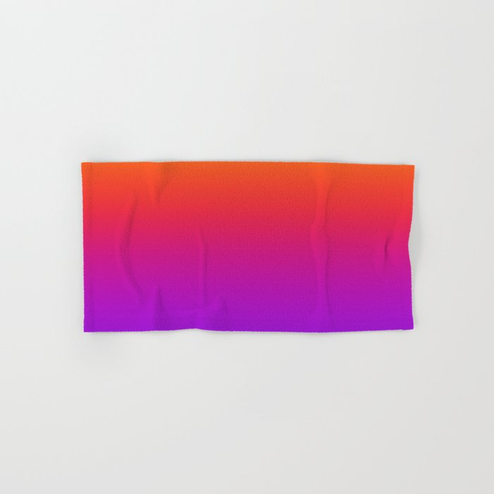 Colorful Gradient Pattern Neon Abstract Rainbow Hand & Bath Towel