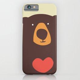 Hearty bear hug iPhone Case