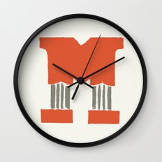 M Lettering Wall Clock