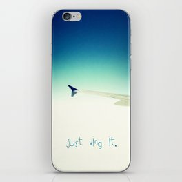 Just wing it.  iPhone Skin